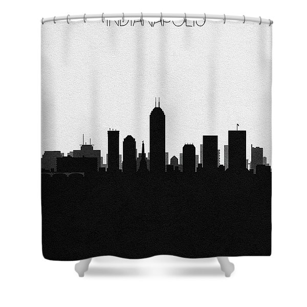 Indianapolis Cityscape Art Shower Curtain