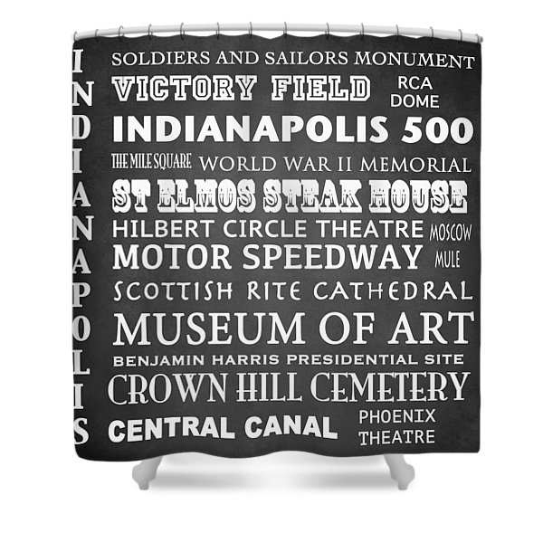 Indianapolis Famous Landmarks Shower Curtain