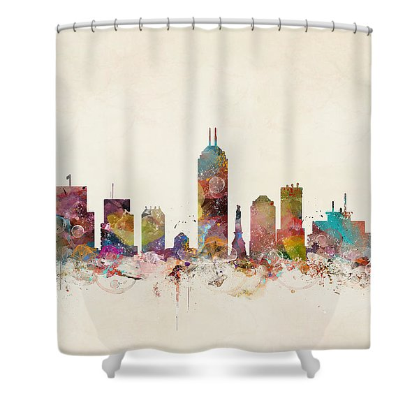 Indianapolis Indiana Shower Curtain