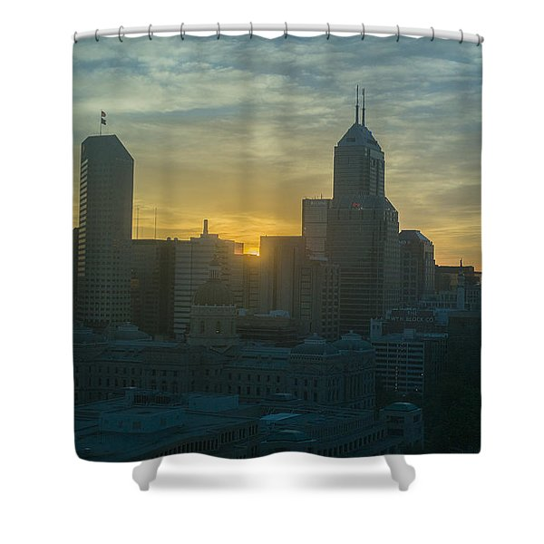 Indianapolis Indiana Skyline 19fa Shower Curtain