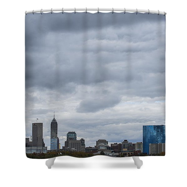 Indianapolis Indiana Skyline 300 Shower Curtain