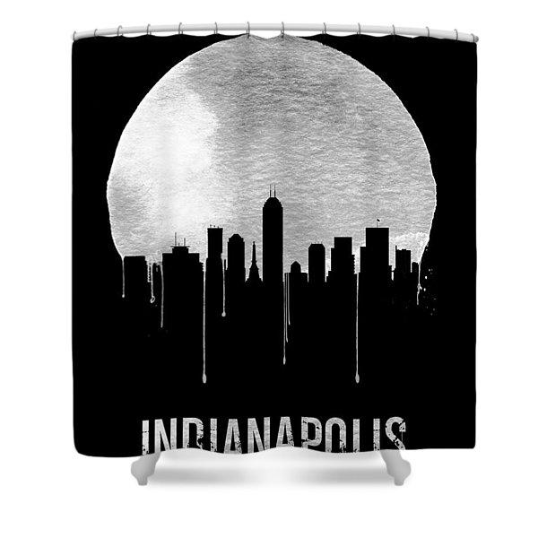Indianapolis Skyline Black Shower Curtain