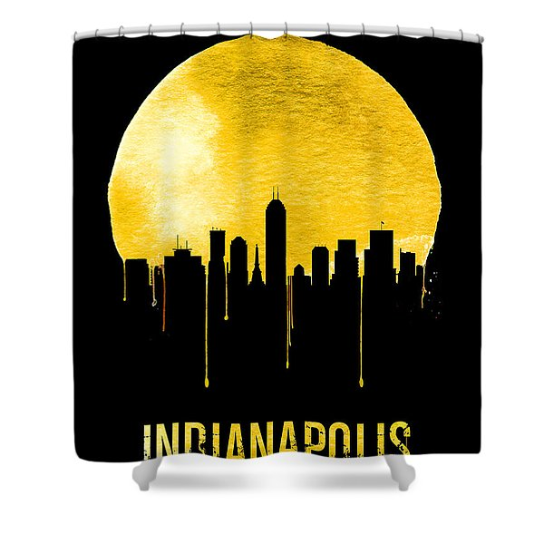 Indianapolis Skyline Yellow Shower Curtain