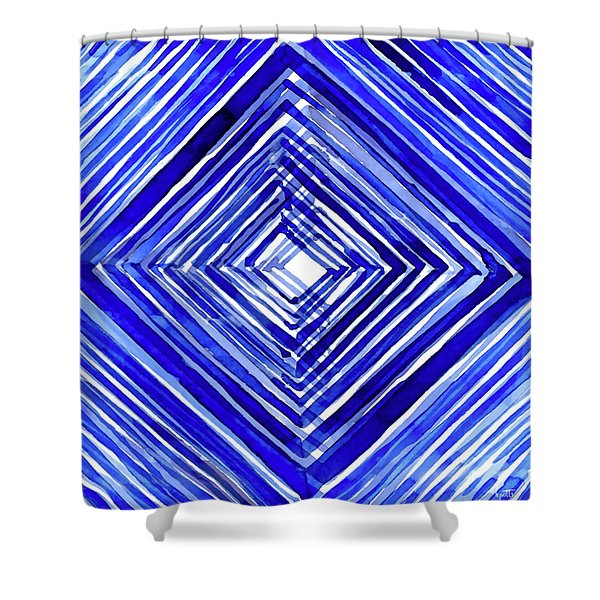 Indigo Textile 10 Shower Curtain