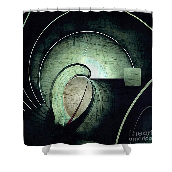 Industrial Arch Grey Shower Curtain