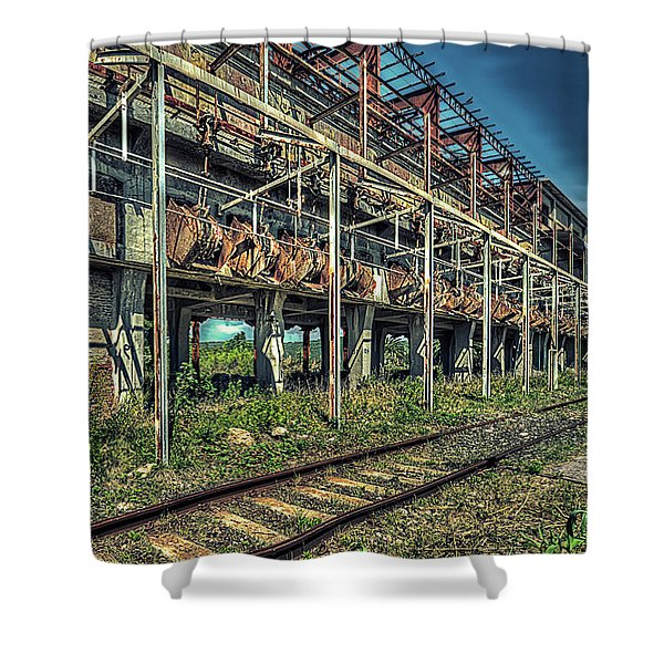 Industrial Archeology Railway Silos - Archeologia Industriale Silos Ferrovia Shower Curtain