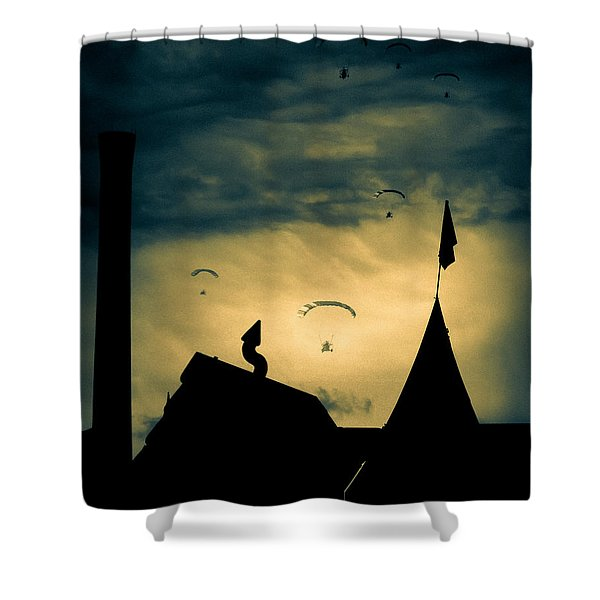 Industrial Carnival Shower Curtain