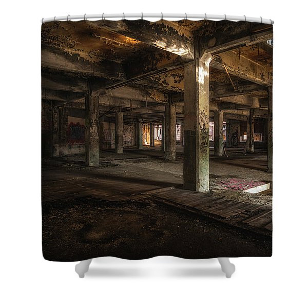 Industrial Catacombs Shower Curtain