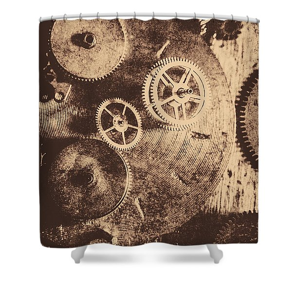 Industrial Gears Shower Curtain