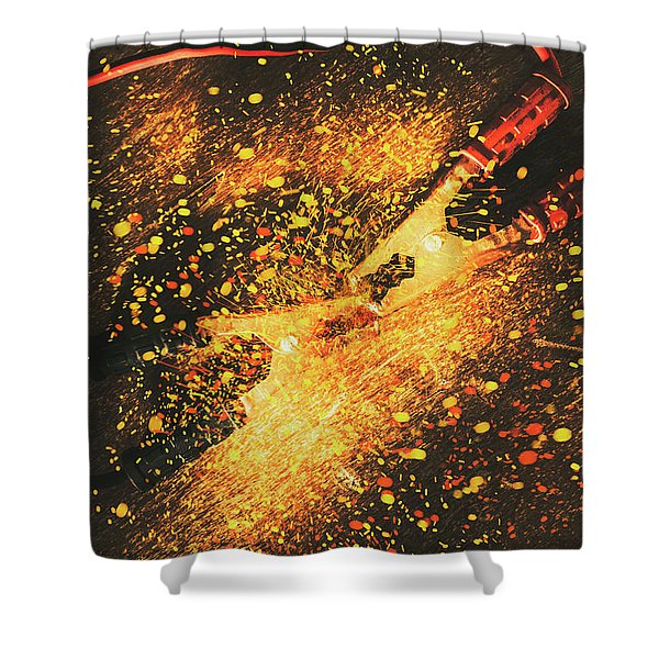 Industrial Jump Start Shower Curtain