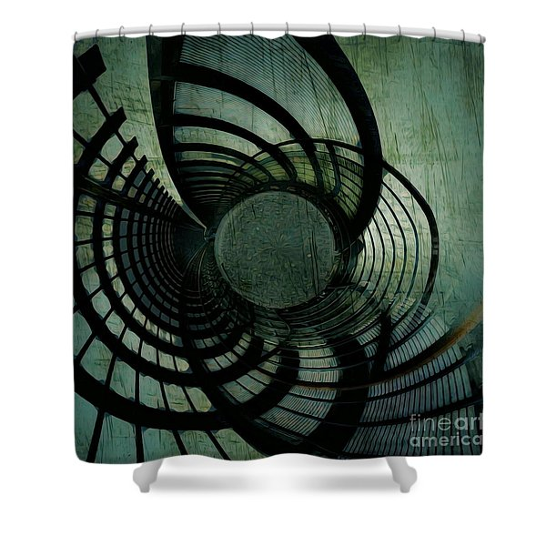 Industrial Overpass Grey Shower Curtain