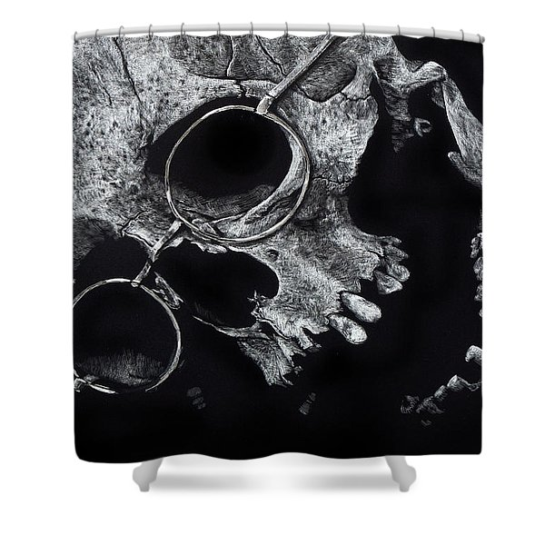 Inevitable Conclusion Shower Curtain
