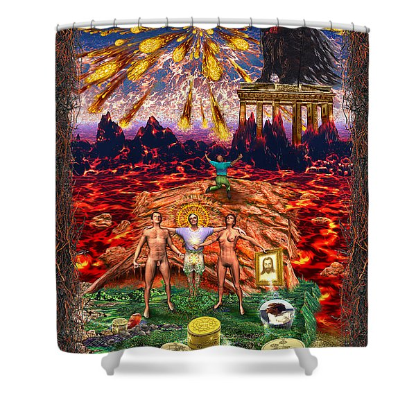 Inferno Of Messages Shower Curtain