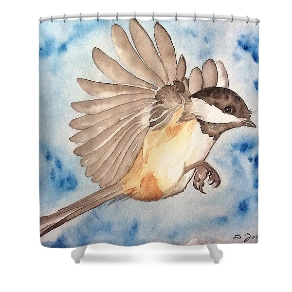 Inflight - Cropped Shower Curtain