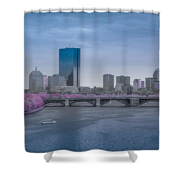 Infrared Boston Shower Curtain