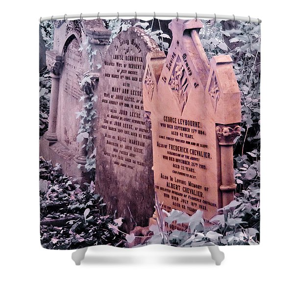 Music Hall Stars At Abney Park Cemetery Shower Curtain