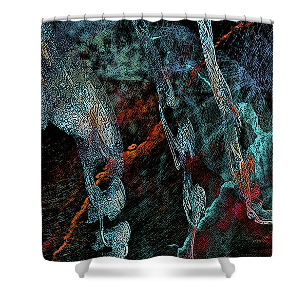 Inhabited Space Shower Curtain