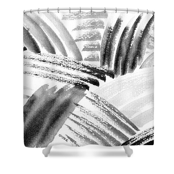 Ink Fields Shower Curtain