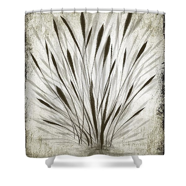 Ink Grass Shower Curtain