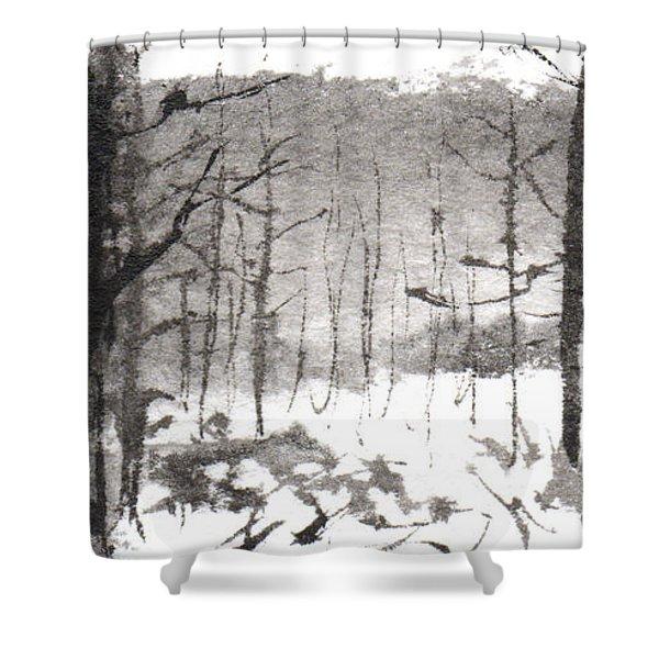 Ink Landscape 1 Shower Curtain