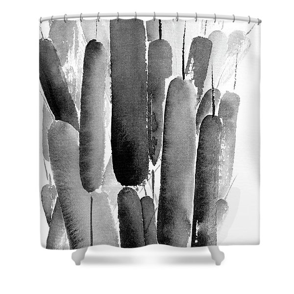 Ink Reeds Shower Curtain