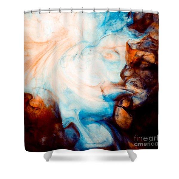 Ink Swirls 001 Shower Curtain