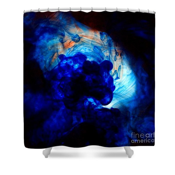 Ink Swirls 002 Shower Curtain