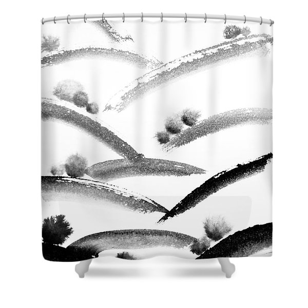 Ink Valleys Shower Curtain