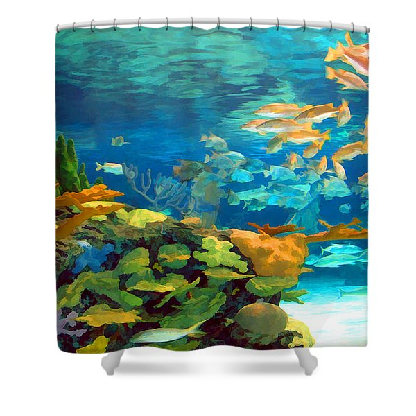 Inland Reef Shower Curtain