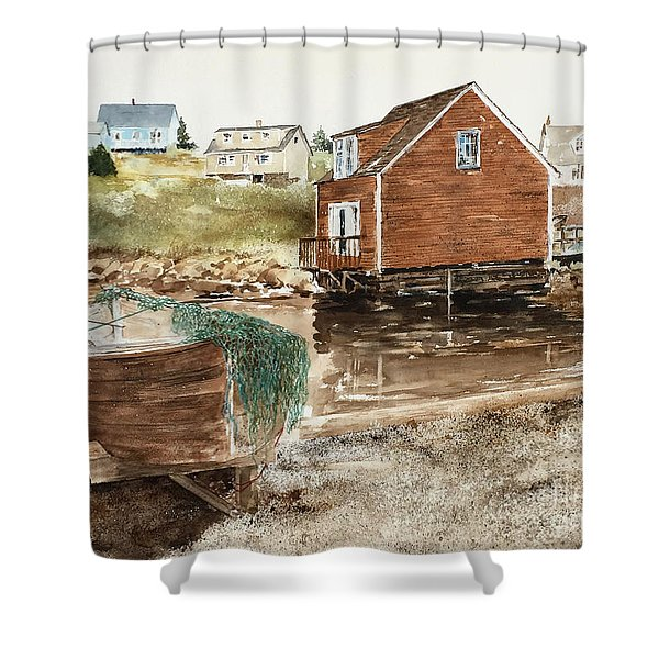 Inlet At Peggy's Cove Shower Curtain