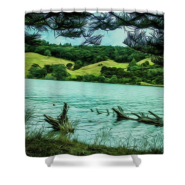Inlet Shower Curtain