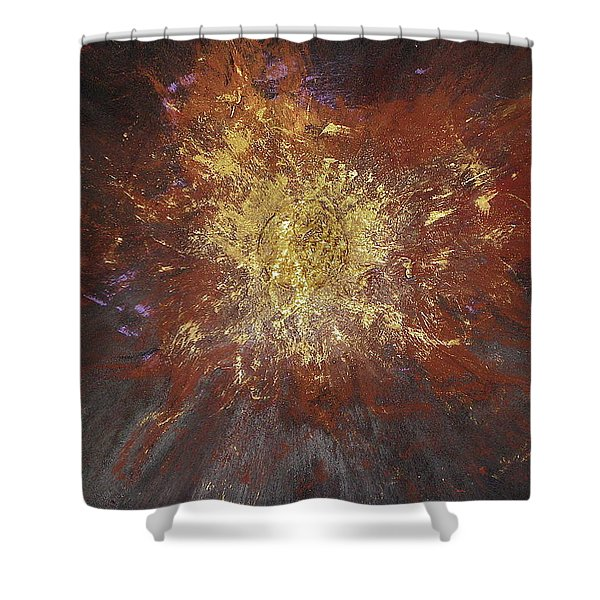Shower Curtain featuring the painting Inner Fire by Michael Lucarelli