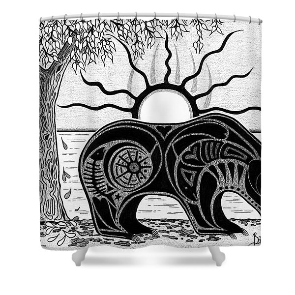 Inner Rhythm Shower Curtain