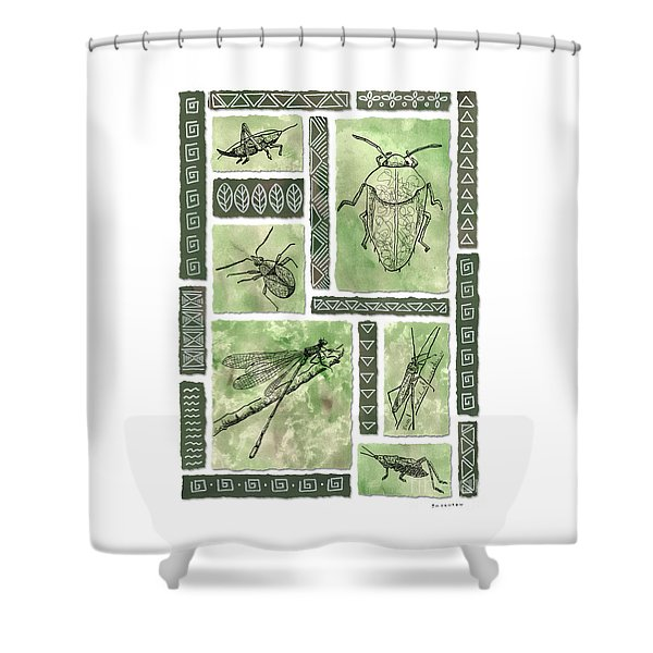 Insects Of Hawaii I Shower Curtain