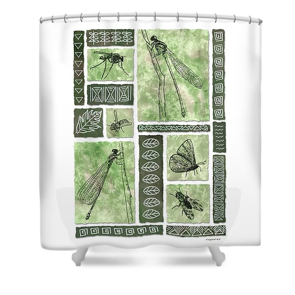 Insects Of Hawaii II Shower Curtain