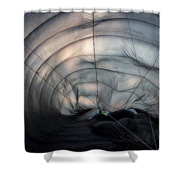 Inside A Hot Air Balloon Shower Curtain