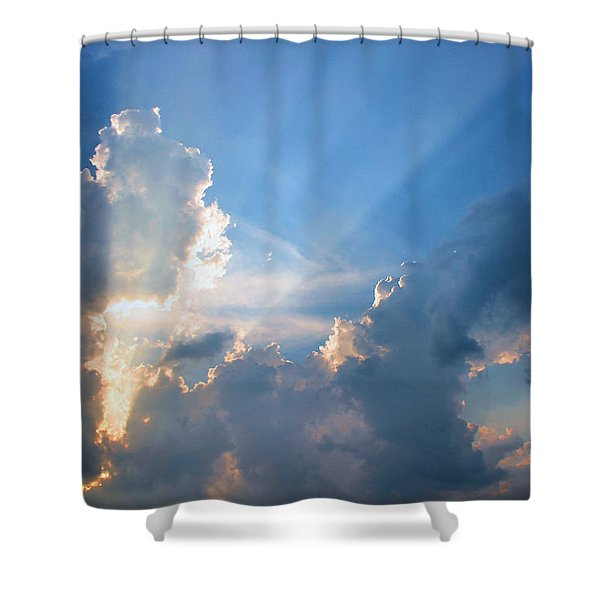 Inspiration Point Shower Curtain by Kristin Elmquist