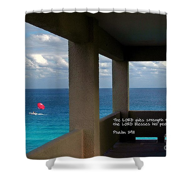 Inspirational - Picture Windows Shower Curtain