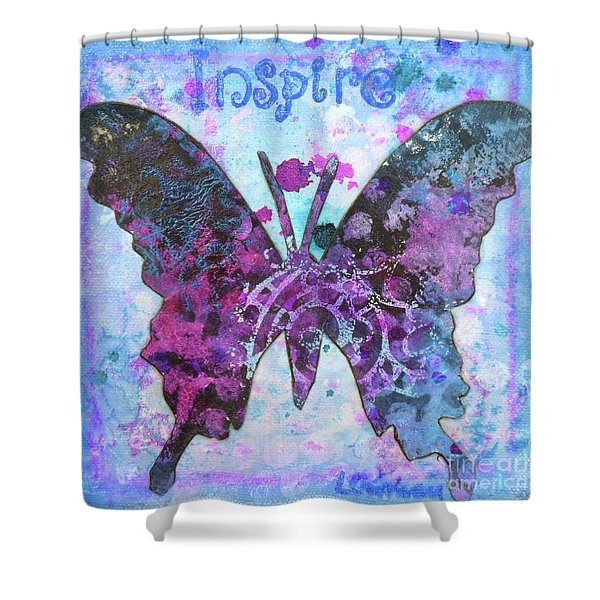 Inspire Butterfly Shower Curtain