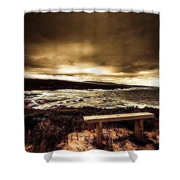 Intense Coastline Drama Shower Curtain