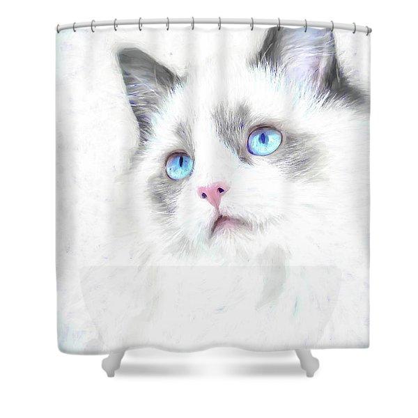 Intense Gaze Shower Curtain