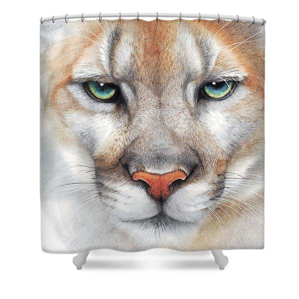 Intensity - Mountain Lion - Puma Shower Curtain