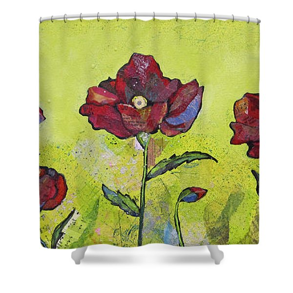 Intensity Of The Poppy I Shower Curtain