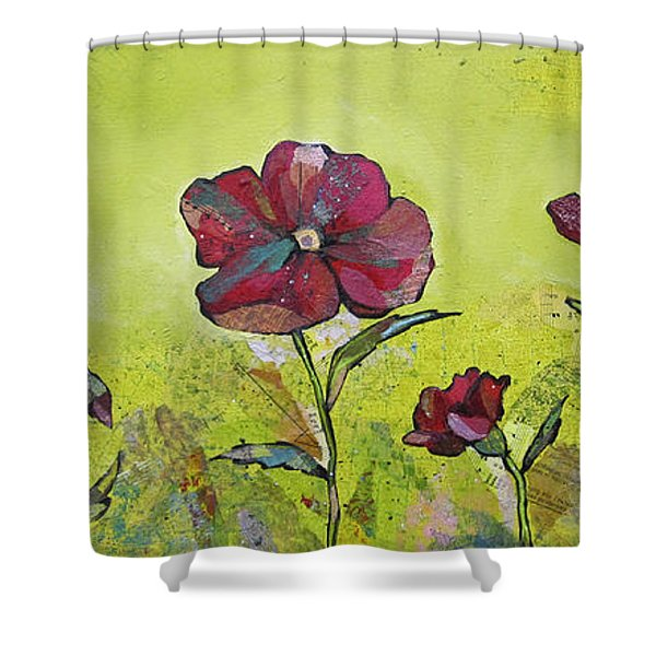 Intensity Of The Poppy II Shower Curtain