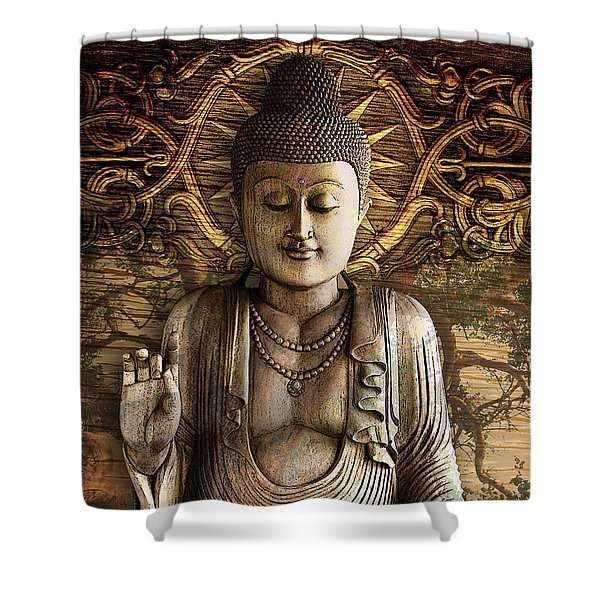 Shower Curtain featuring the digital art Intentional Bliss by Christopher Beikmann