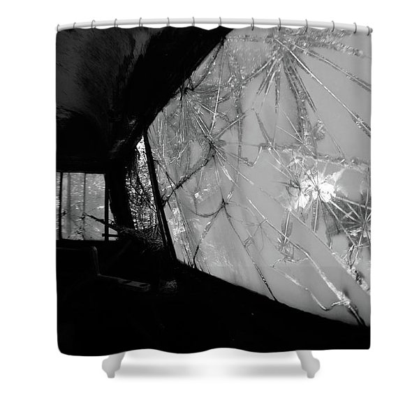 Interior In Gray Shower Curtain