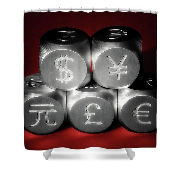 International Currency Symbols II Shower Curtain