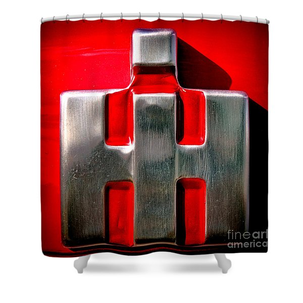 International Harvester Logo Nameplate Shower Curtain