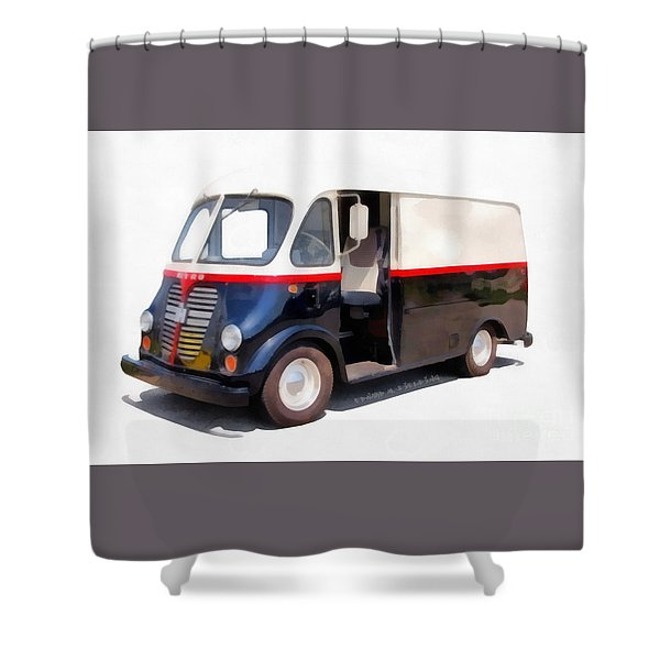 International Harvester Metro Van  Shower Curtain