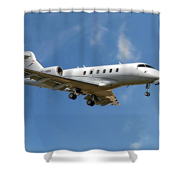 International Jet Management Shower Curtain